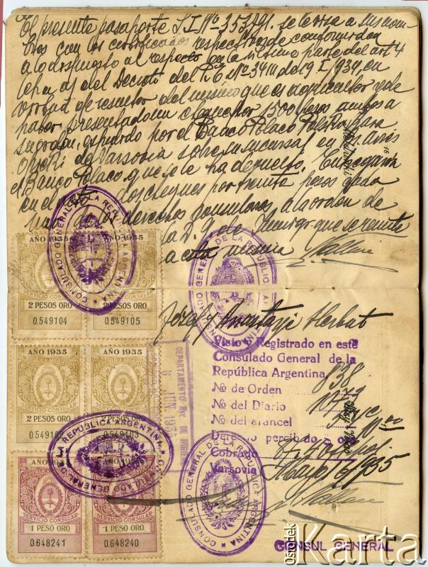 Dokument z kolekcji Władysława Herbuta / Documento de la colección de Władysław Herbut