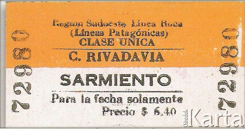 Fotografia ze zbiorów Museo Ferroportuario w Comodoro Rivadavia / Fotografía de la colección del Museo Ferroportuario en Comodoro Rivadavia.