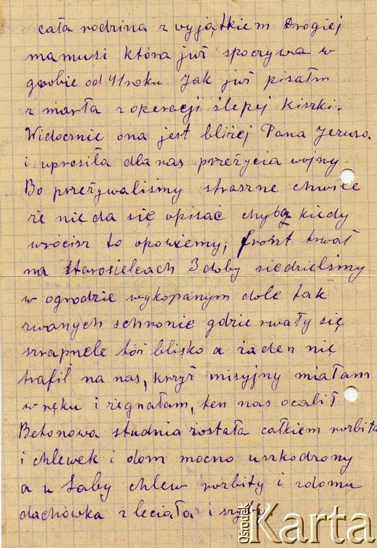 Dokument ze zbiorów Centralnego Archiwum Historycznego Redemptorystów w Wiceprowincji Resistencia / Documento de la colección del Archivo Central Histórico de Redentoristas en la Viceprovincia de Resistencia.